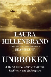 Author Laura Hillenbrand's book, Unbroken